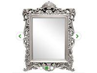 Champagne Ornate Framed Mirror