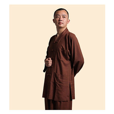 High Quality Monk Clothes Buddhism Linen Robes Jacket Men's Frock Coat - Monk Clothes