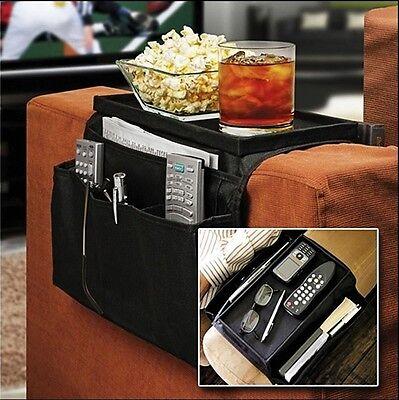 ARMCHAIR Remote Control Holder Sofa Arm Rest Organizer Caddy Table