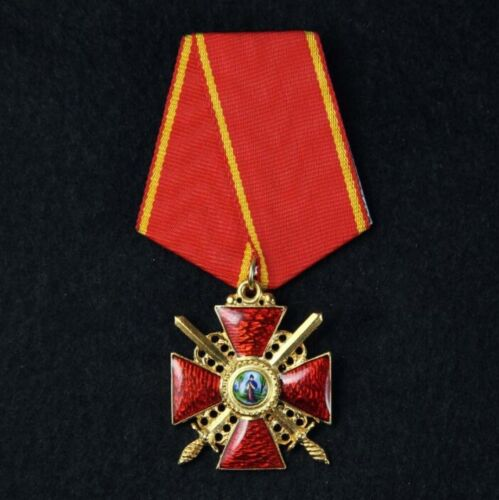 👉Russian Empire Award - Cross of the Order of St. Anne 3 degree with swords👍👍