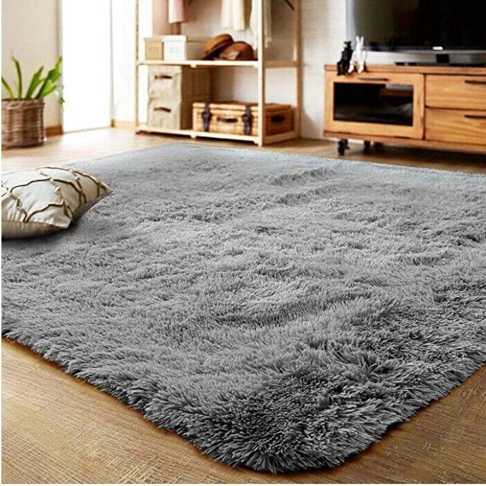 Fluffy Shag Area Rug Home Decor Bedroom Living Room Fuzzy Ca
