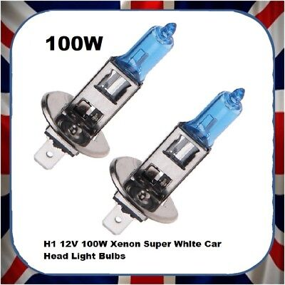 SET OF 10 H1 +50% BRIGHTER - 100 12V, 100W SUPER WHITE HEADLIGHT HEADLAMP BULB for sale  Shipping to Ireland