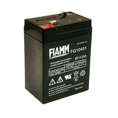 Fiamm FG10451 Batteria Ermetica al piombo 6V 4,5 Ah LAMPADE EMERGENZA e UPS
