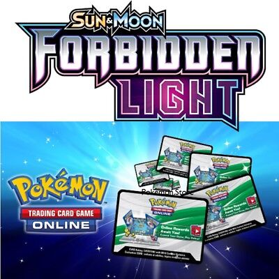50 Forbidden Light Codes Pokemon Tcg Online Booster Sent In Game Emailed Fast