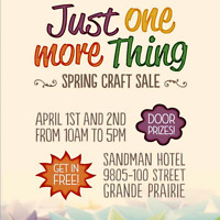 Just 1 More Things Springs Craft Show