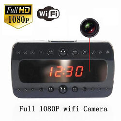 HD 1080P SPY Camera Hidden Camcorder P2P WIFI Wireless Alarm Clock Pinhole DVR m