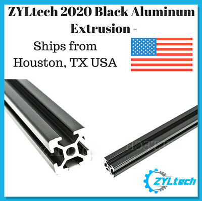 Zyltech 2020 Aluminum T-slot Aluminum Extrusion - Black 1000mm Cnc 3d Printer