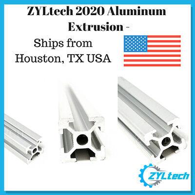 Zyltech 2020 Aluminum T-slot Aluminum Extrusion-1000mm 1m Cnc 3d Printer Silver