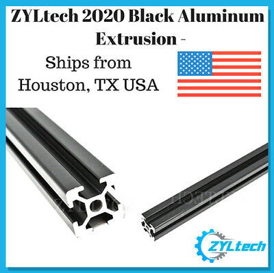 Zyltech 2020 Aluminum T-slot Aluminum Extrusion - Black 600mm Cnc 3d Printer