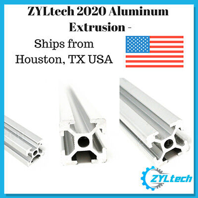 Zyltech 2020 Aluminum T-slot Aluminum Extrusion - 600mm Cnc 3d Printer Silver