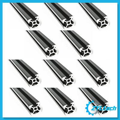 20 Pack Zyltech 2020 T-slot Aluminum Extrusion - 20x 500mm Black Anodized