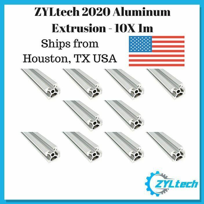 10 Pack ZYLtech 2020 Aluminum Extrusion - 10X 1M