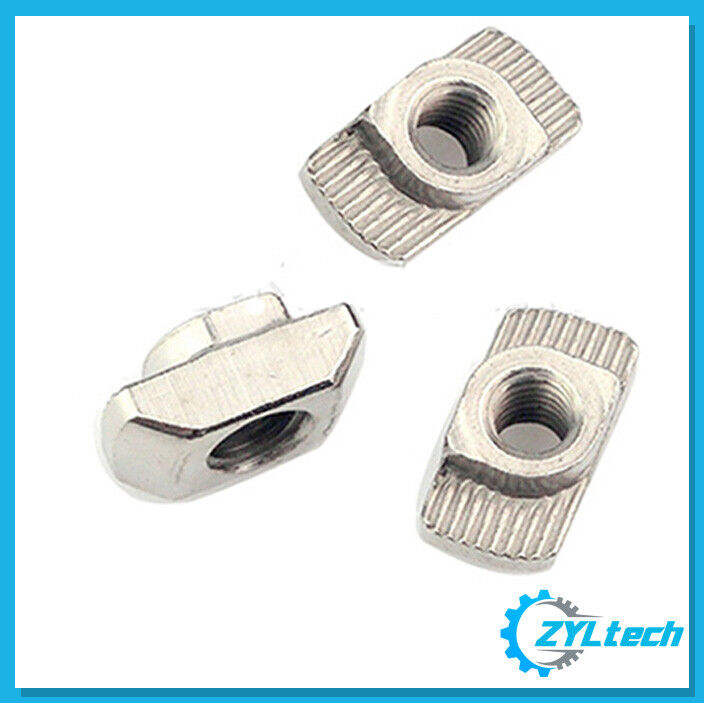 100x ZYLtech Hammer Nuts (T-Slot) for 2020 Aluminum Extrusion - M4 or M5