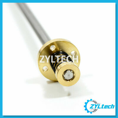 8mm T8x8 Lead Screw Trapezoidal Acme W Anti-backlash Nut Kit - 2000mm 2m 6.6