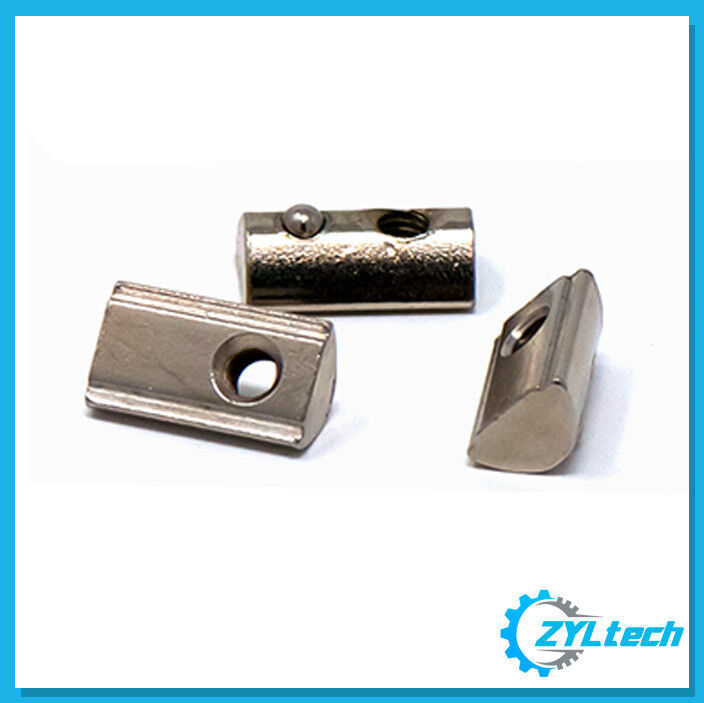 100x ZYLtech Spring Loaded T-Nuts for 3030 Aluminum Extrusion - M5