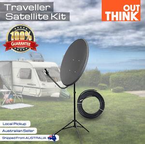 Satellite Dish Kit for VAST Digital TV Portable Caravan Reception