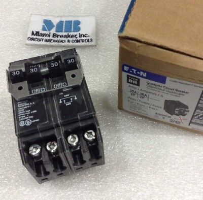 Cutler Hammer Bq230230 Quad Circuit Breaker New 3030 Amp 120240v Box Of 5