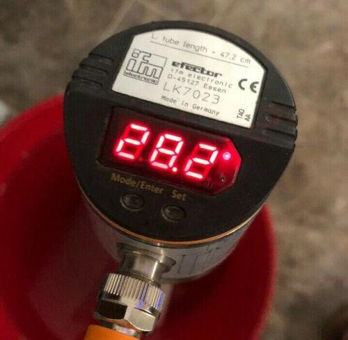 IFM Efector Level Sensor LK7023 dual output NPN/PNP 3-42cm range 12-30VDC 18-1/2