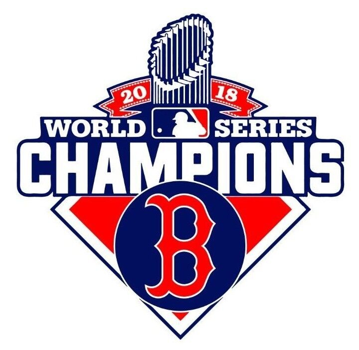 "Boston Red Sox World Series 2018 Champions Vinyl Decal Sticker 4"" Championship D"