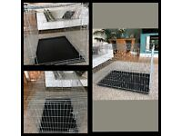 "30""medium im dog cage with removable tray"