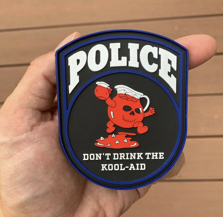 nypd style police morale patch dont drink the koolaid