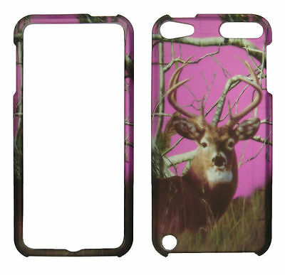 Pink deer fall camo real  for Apple Ipod Touch 5 5th Gen.  Feel Case Cover 5 Fall Ipod