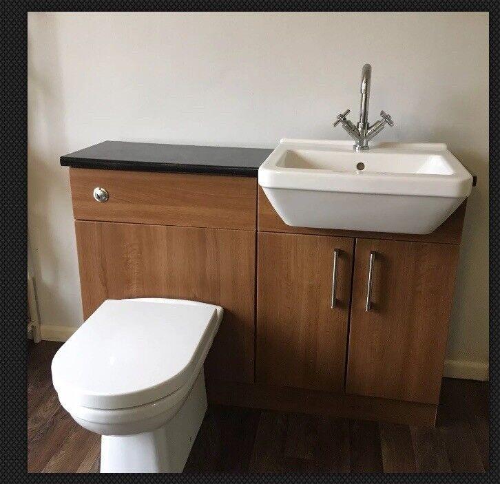 New ex display wickes Montrose bathroom suite toilet sink ...