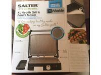 BNIB Salter XL Health Grill & Panini Maker 1800w Marble