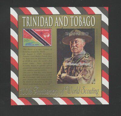 Trinidad and Tobago 2008 Boy Scouts souvenir sheet MNH