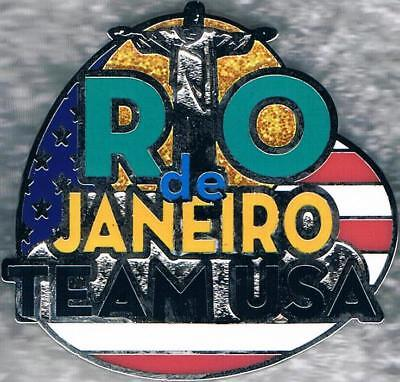 2016 Rio Christ the Redeemer Statue USA Olympic Team NOC Pin  Christ The Redeemer Statue Rio