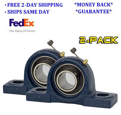 Ucp210-31 Pillow Block Bearing 1-1516 Bore 2 Bolt Solid Base 2pcs
