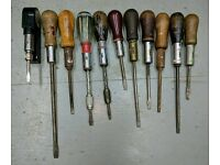 Vintage ratchet screwdrivers