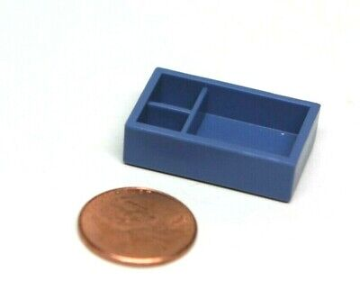 Playmobil Miniature Dollhouse Blue Bin Box w/ Divided Compartments