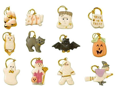 Lenox Halloween Tree Ornaments (Lenox Halloween Miniature Tree Ornaments 12 Trick Or Treat Pumpkin Ghost Cat)