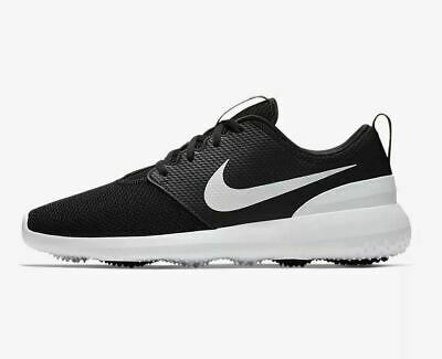 NIKE ROSHE G MENS BLACK GOLF SHOES ,UK 8 ,EURO 42.5 ,NEW