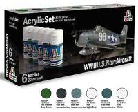 A Italeri Acrylic Paint 439ap - Set 6 Colori Acrilici - Wwii U.s. Navy Aircraft -  - ebay.it