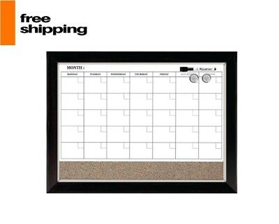 Whiteboard Wall Organizer Magnetic Dry Erase Calendar Monthly Time Planner Cork
