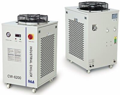 Industrial Refrigeration Water Chiller for 200W CO2 Laser Tubes 220V CW-6200BI