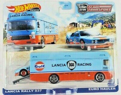 Hot Wheels 2021 Car Culture Team Transport Lancia Rally 037 Euro Hauler Truck