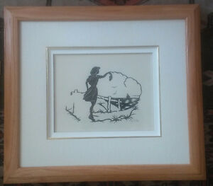 Framed German Paper Cutting Artwork