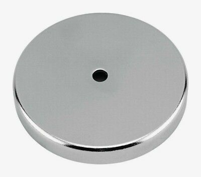 Master Magnetics .44 In. Ceramic Round Base Magnet Silver 95 Lb. Pull 1pk 07223