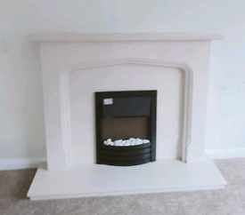 STONEYWOOD- Barley-white Fire Surround / Fireplace