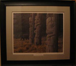 "Robert Bateman Print ""Totem And Bear"" Ducks Unlimited Edition"