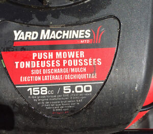 Lightweight lawnmower bought a few years ago as a second
