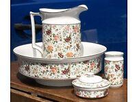 Beautiful Antique (c1910) New Hall Pottery Washstand Toilet Jug & Bowl Set