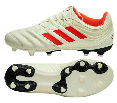 fdc197cf0200 ADIDAS COPA 19.3 FG SOCCER CLEATS SIZE 8 OFF WHITE/SOLAR RED BB9187