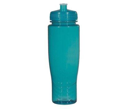 Bulk Plastic Water Bottles (100 Bulk Pack 28 Ounce Teal Water Bottles Lids. USA)