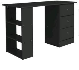 Brand new black 3 drawer desk