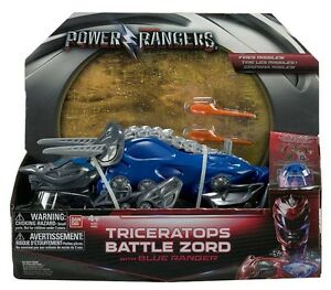 Power Rangers Movie Triceratops Battle Zord with Blue Ranger
