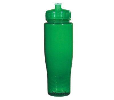 Bulk Plastic Water Bottles (100 Bulk Pack 28 Ounce Green Water Bottles Lids. USA)